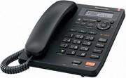 Проводной телефон Panasonic 2570 черный,  P/N: KX-TS2570UAB